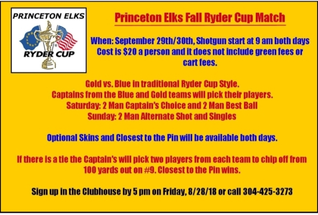 Fall Ryder Cup - September 29